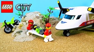 Lego City Ambulance Plane & Dirt Bike UNBOXING AND PLAYING  FUN Toy Video for Kids Boys