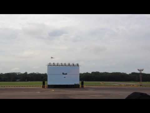 Republic of Singapore Air Force Open House 2016: Pyrotechnics and Cargobob Hauling Jeep
