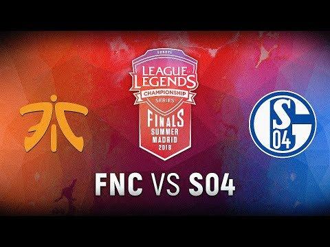 FNC vs. S04 - Finals Game 1   EU LCS Summer Finals   Fnatic vs. FC Schalke 04 (2018)