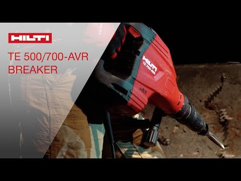 INTRODUCING the Hilti TE 500-AVR & TE 700-AVR demolition hammers