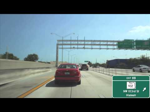 I-95 Miami, FL (Exits 10B to 1A)