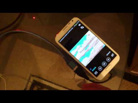 Samsung Galaxy Note 2 N7100 with OTG cable 500Gb HDD External drive & ROOT WORKING