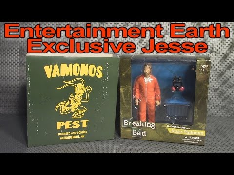 Jesse Pinkman. Mezco. Breaking Bad. Orange Hazmat. Entertainment Earth Exclusive Figure Review