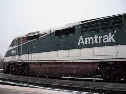 From clear to white watching trains during Northwest snowstorm pnwed