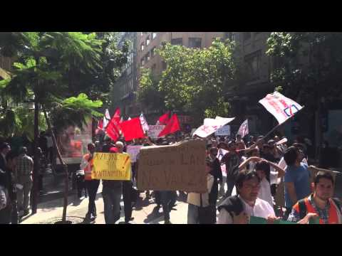 March of support to LAN express strike in Chile