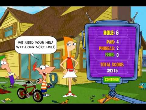 Phineas And Ferb: Gadget Golf Play Mini Golf on Inventive Courses (Disney Games)
