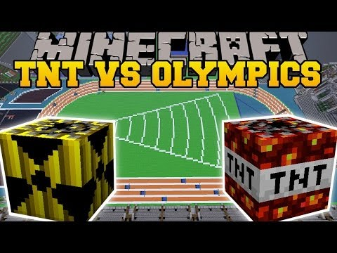 TOO MUCH TNT MOD VS TNT OLYMPICS Minecraft Mods Vs Maps Nukes Meteors TNT