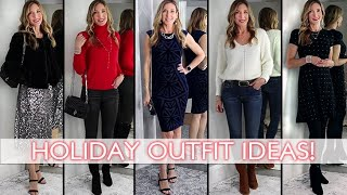 Winter Holiday Outfit Ideas! Casual to Party Looks Fun + Festive!