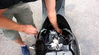 How to install a spark plug on a gy6 qmb139 chinese  scooter / moped.