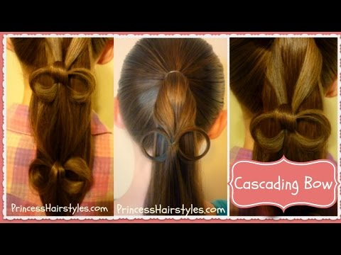 Cascading Bows Ponytail Hairstyle