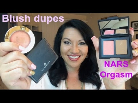 NARS Orgasm DRUGSTORE blush dupes! Milani & ELF swatches and comparison. review and demo