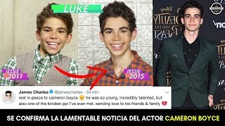 SE CONFIRMA LA LAMENTABLE NOTICIA DEL ACTOR CAMERON BOYCE