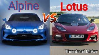 Alpine A110 VS Lotus Evora : COMPARAISON#8
