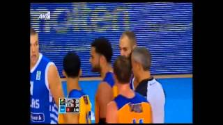 Spanoulis - Taylor altercation