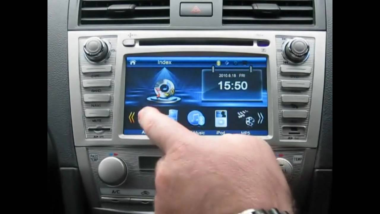 Aftermarket Toyota Camry Aurion Gps Unit Youtube