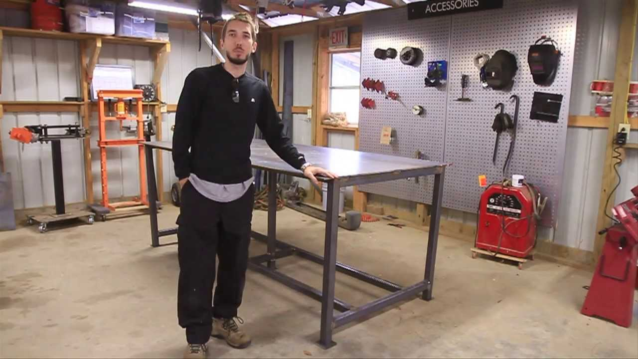 BleepinJeep Builds a Welding Table - YouTube