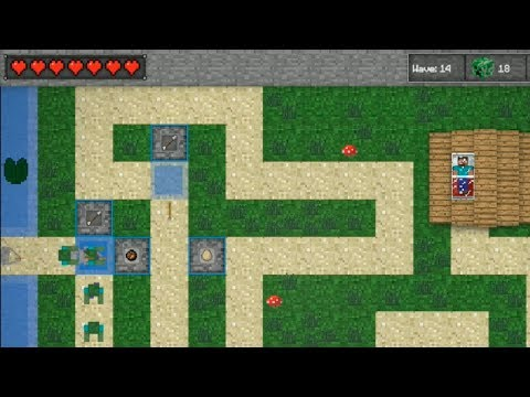 Minecraft Tower Defense Ep.1 - Stupid Ghasts! 100 Волн продержимся? - Minecraft 2D