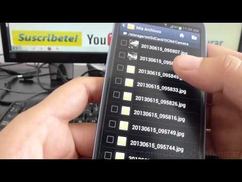 como exportar fotos a la sd android Samsung Galaxy S3 español