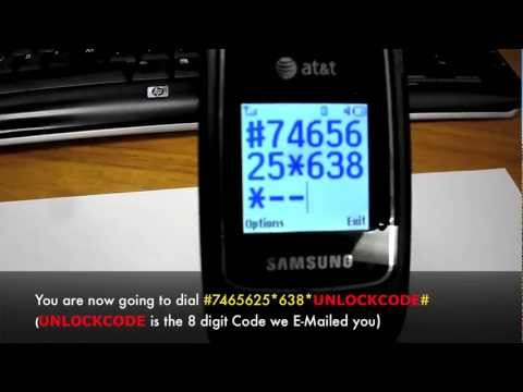 How to Unlock Samsung SGH-A107 in 5 Minutes! - Unlock Samsung A107 At&t GoPhone by Unlock Code