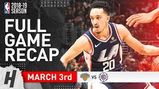 Los Angeles Clippers vs New York Knicks - Full Game Highlights | March 3, 2019