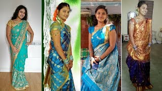 MY SAREES COLLECTION AND BLOUSE DESIGNS / KATHYA-RAMESH VLOGS