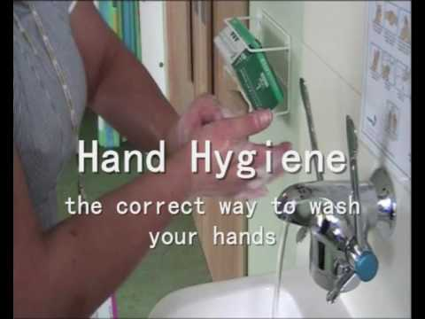 ABM Infection Control Nurse demonstrates the correct way to wash your hands