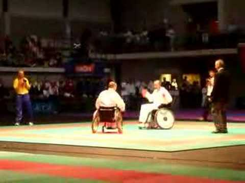 wheelchair kumite at WUKO European Championships