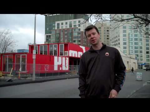 Boston. MA Shipping Container House/Home Store -Puma Clothing/Conex Box