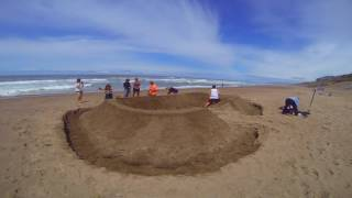 How to Build a Sandcastle Really Fast