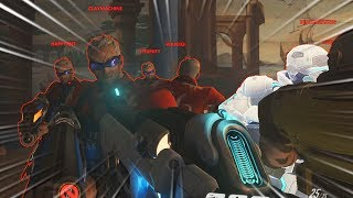 Intense *NEW* Raising Floor Game Mode..!! - Overwatch Workshop Funny Moments & Fails #13