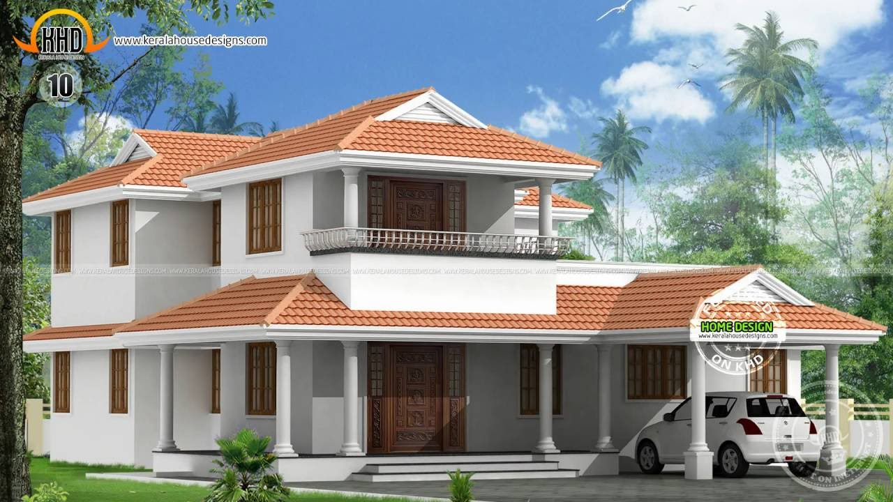 House designs june 2014 youtube for Modern kerala style house plans with photos