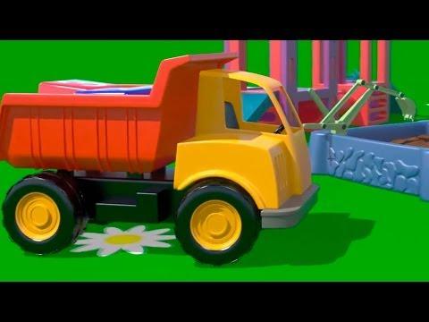 Çizgi Film İş Makineleri – Damperli Kamyon