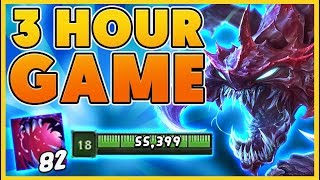 *55K + HP* THE LONGEST GAME EVER (LEAGUE OF LEGENDS RECORD) - BunnyFuFuu