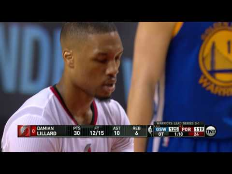 Golden State Warriors vs Portland Trail Blazers - Game 4 - FULL OVERTIME | May 9, 2016