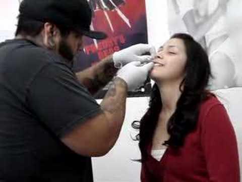 Upper lip Piercing