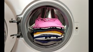 Experiment - T-shirts - in a Washing Machine - full laundry