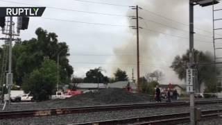 4 killed, 2 injured as plane crashes into California residental area