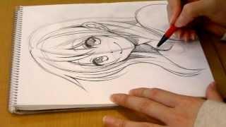 Morita's?manga Come Back!.DRAWING girl's face by pencil 01 SeAL_Morita_Eihire