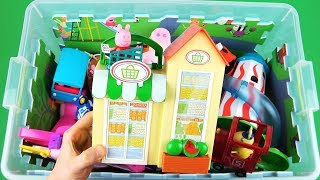 Learn with Peppa Pig, PJ Masks, Ben and Holly etc Toys in box - Learn characters, vehicles for kids
