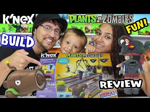 Plants Vs. Zombies K'nex: Pirate Seas Plank Walk Timelapse Build & Review W  Mom, Dad & Chase video