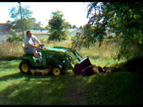 John Deere X728 W Compact Tractor Loader Youtube