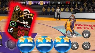 99 OVR NBA FINALS MVP KEVIN DURANT GAMEPLAY! THIS CARD IS CLUTCH! BEST 99 OVR CARD IN THE GAME!
