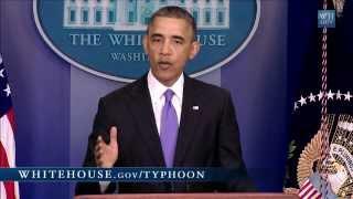 President Obama Speaks on Typhoon Haiyan   11/14/13