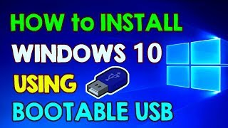 How to Install Windows 10 from Bootable USB Flash Drive on Windows 7 PC (Windows 10 Installation)