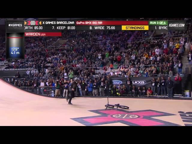 Zack Warden wins BMX Big Air