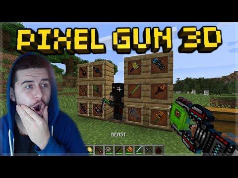 PIXEL GUN 3D WEAPONS IN MINECRAFT! - SUPER COOL PIXEL GUN 3D MINECRAFT MOD!