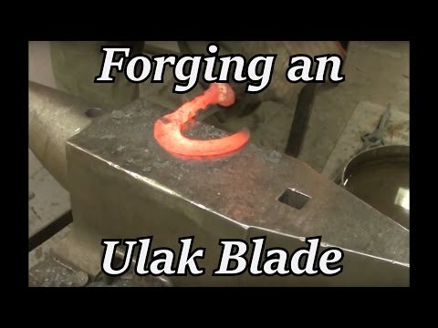Blacksmithing - Forging an Ulak Blade from a Railroad Spike   Iron Wolf Industrial