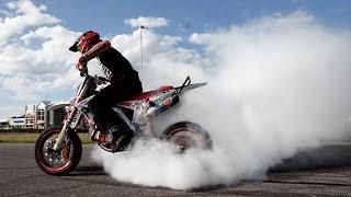 Supermoto Stunt Session | Honda CRF 450 / KTM EXC 450 - Wheelies - Burnouts - No handers