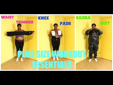 3 PLUS SIZE WORKOUT ESSENTIALS: WAIST TRIMMER, SAUNA SUIT AND KNEE PADS (WEIGH IN)