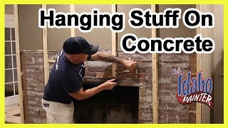 How To Hammer A Nail In Concrete or Brick.  How to hand a picture.